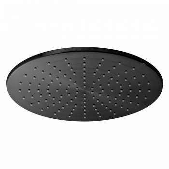 Product Photograph Featuring an Individual by VADO Brushed Black Round 300mm Shower Head