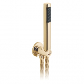 Product Photograph for an Individual by VADO Bright Gold Round Single Function Mini Shower Kit with Integrated Outlet