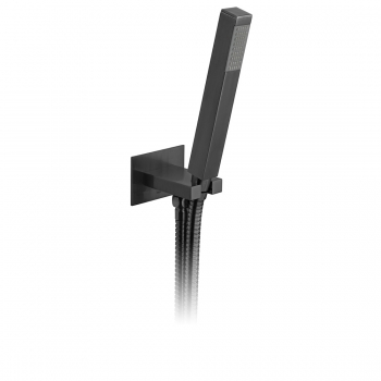 Product Photograph for an Individual by VADO Brushed Black Square Single Function Mini Shower Kit with Integrated Outlet
