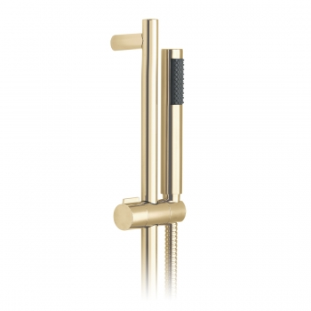 Product Photograph for an Individual by VADO Bright Gold Round Single Function Slide Rail Shower Kit