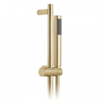 Product Photograph for an Individual by VADO Brushed Gold Round Single Function Slide Rail Shower Kit