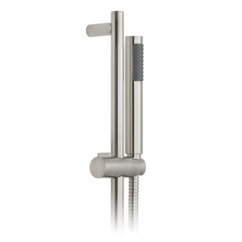 Product Photograph for an Individual by VADO Brushed Nickel Round Single Function Slide Rail Shower Kit
