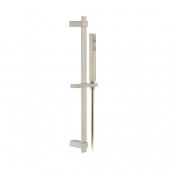 Product Photograph for an Individual by VADO Brushed Nickel Square Single Function Slide Rail Shower Kit