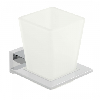 Product Photograph for a Level Frosted Glass Tumbler and Holder