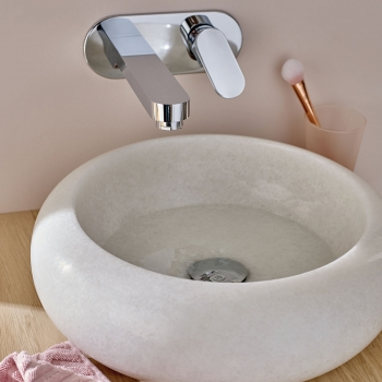 Lifestyle Photograph Featuring a Life Wall Mounted Bath Shower Mixer Tap