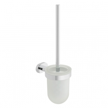 Product Photograph for a Life Toilet Brush and Frosted Glass Holder