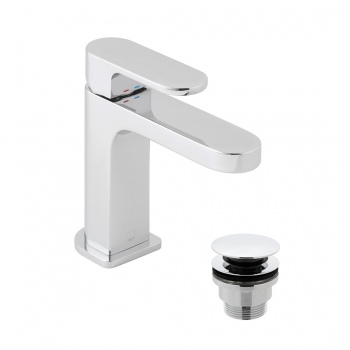 Product Photograph for a Life Slimline Mono Basin Mixer Tap with Universal Basin Waste