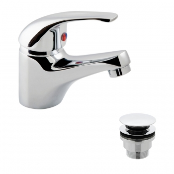 Product Photograph for a Matrix Mono Basin Mixer Tap with Universal Waste