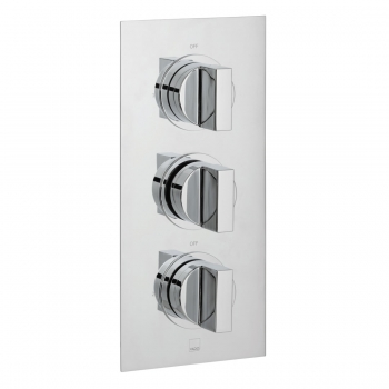 Product Photograph for a DX Notion 2 Outlet 3 Handle Concealed Thermostatic Shower Valve