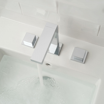 Lifestyle Photograph Featuring a Notion Deck Mounted Basin Mixer Tap