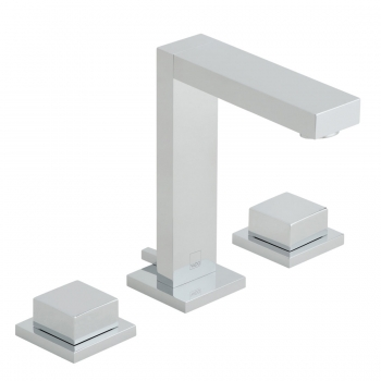 Product Photograph for a Notion Deck Mounted 3 Hole Basin Mixer Tap with Pop-up Waste