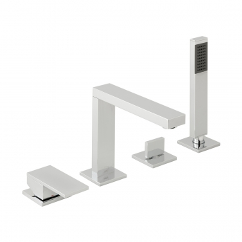 Product Photograph for a Notion Deck Mounted 4 Hole Bath Shower Mixer with Shower Kit