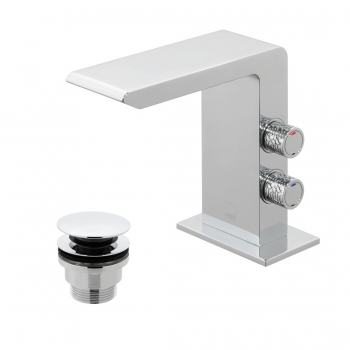 Product Photograph for an Omika Mono Basin Mixer with Universal Waste