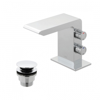 Product Photograph for an Omika Mini Mono Basin Mixer with Universal Waste