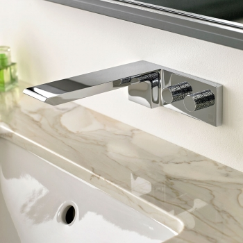 Lifestyle Photograph for an Omika Wall Mounted Basin Mixer Tap