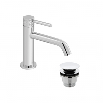 Product Photograph of an Omika Slimline Mono Basin Mixer Tap with Universal Basin Waste