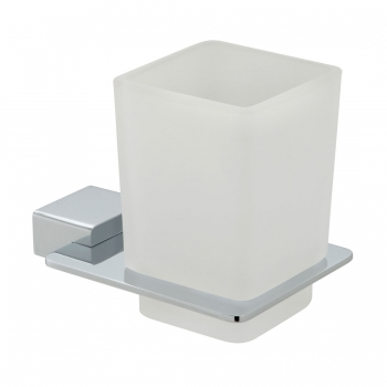 Product Photograph for a Phase Frosted Glass Tumbler and Holder