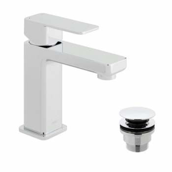 Product Photograph for a Phase Mono Basin Mixer Tap and Universal Basin Waste