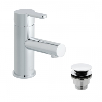 Product Photograph for a Sense Mono Basin Mixer Tap with Universal Waste