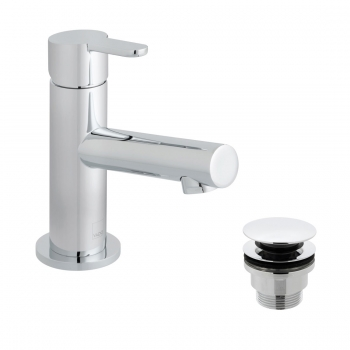 Product Photograph for a Sense Mini Mono Basin Mixer Tap with Universal Waste