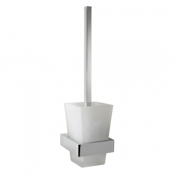 Product Photograph for a Shama Toilet Brush and Frosted Glass Holder