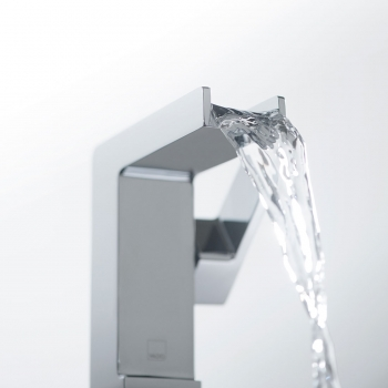 Lifestyle Photograph Featuring a Synergie Waterfall Mono Basin Mixer Tap