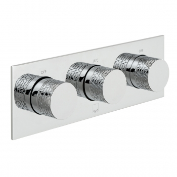Product Photograph for a Tablet Omika Horizontal 2 Outlet 3 Handle Thermostatic Shower Valve