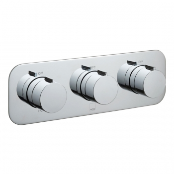 Product Photograph for a Tablet Altitude Horizontal 3 Outlet 3 Handle Concealed Thermostatic Shower Valve