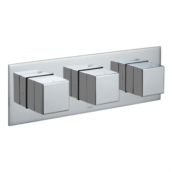 Product Photograph for a Tablet Notion Horizontal 3 Outlet 3 Handle Concealed Thermostatic Shower Package
