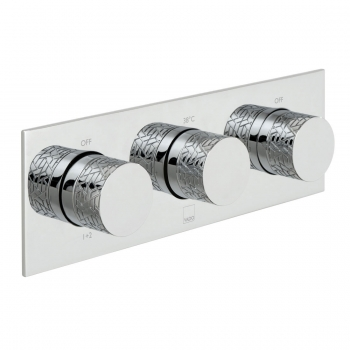 Product Photograph for a Tablet Omika Horizontal 3 Outlet 3 Handle Concealed Thermostatic Shower Valve