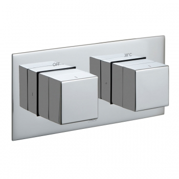 Product Photograph for a Tablet Notion Horizontal 2 Outlet 2 Handle Concealed Thermostatic Shower Valve