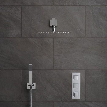 Lifestyle Photograph Featuring a Tablet Notion 2 Outlet Thermostatic Shower Package