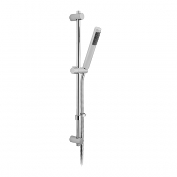 Product Photograph Featuring a Round Single Function Slide Rail Shower Kit