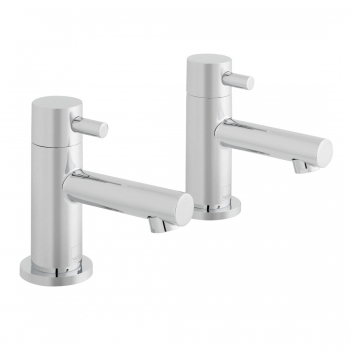 Product Photograph Featuring a pair of Zoo Basin Pillar Taps